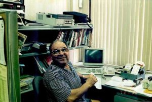 This is Cary's father, Robert Knopp, at our Coney Island office in the 1990s.